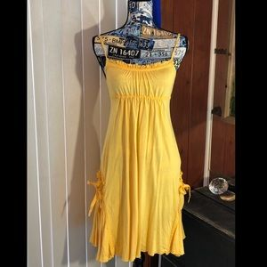 Mori Girl Modal Yellow Sundress Dress W/ Pockets!